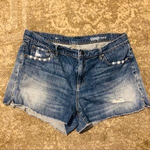 Gap jean distressed jean shorts 32